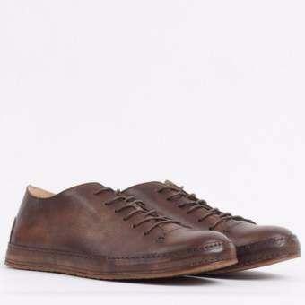 รองเท้า หนัง แท้ รุ่น Piero Sneakers - Dark Brown -