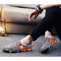 ราคา รองเท้าแฟชั่นเปิดส้นผู้ชาย รุ่น Sn393 สีส้ม เป็นต้นฉบับ Coptertrend