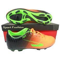 ขาย รองเท้าฟุตบอล รองเท้าสตั๊ด Fast 194 ส้ม Fast ถูก