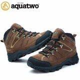 ส่วนลด รองเท้าหนังแท้ Aquatwo กันน้ำอย่างดี สำหรับลุยป่า ปีนเขา Adventure รุ่น 943 สีน้ำตาลเข้ม กรุงเทพมหานคร
