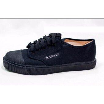 รองเท้านักเรียน CONVOY สีดำ รุ่น 205