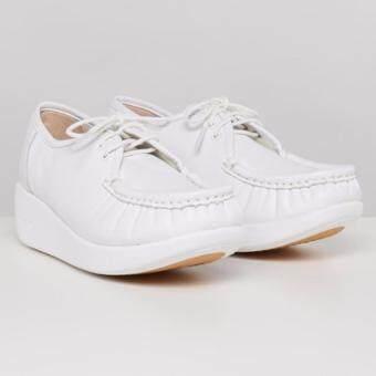 รองเท้าพยาบาล หนังแท้ 100% SOFIT SN809PLWH White รองเท้าสุขภาพ นุ่มสบายเท้า