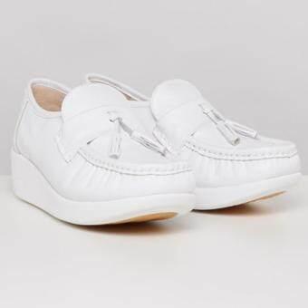 รองเท้าพยาบาล หนังแท้ 100% SOFIT SN822PLWH White รองเท้าสุขภาพ นุ่มสบายเท้า
