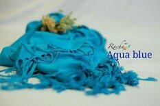 ซื้อ Racha ผ้าพันคอ ผ้าคลุมไหล่ คอตตอนซิลล์ Cotton Silk สี Aqua Blue ออนไลน์ Thailand