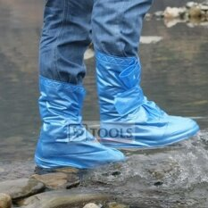 Rain Boots ถุงคลุมรองเท้ากันน้ำกันฝน บูธกันฝน ยาวหุ้มข้อ สีน้ำเงิน เป็นต้นฉบับ