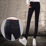ขาย Ready4Girl กางเกงยีนส์ขายาวทรงสลิม ยีนส์ยืดเนื้อหนา สีดำ ออนไลน์ ใน กรุงเทพมหานคร