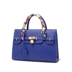 ซื้อ Realer Pu Leather Shoulder Bag Cross Leather Handbags Women Messenger Bag Blue ถูก จีน
