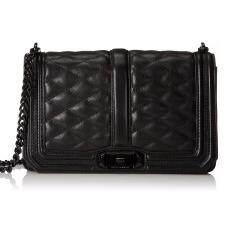 ซื้อ Rebecca Minkoff Rare Black Quilted Leather Mini Love Crossbody Bag Intl จีน