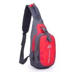 กระเป๋าเป้ สะพาย สีแดง กระเป๋าเป้คาดไหล่ กระเป๋าเป้ใส่เงิน Red เป็นต้นฉบับ