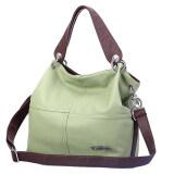โปรโมชั่น Restore Ancient Inclined Bag Women Lady Pu Leather Handbag Shoulder Bag Green ถูก