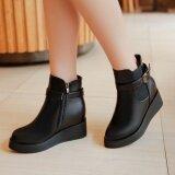 ขาย Retro British Wind Belt Buckle Boots Women S Flat Bottom Spring And Autumn New Women S Shoes Women S Boots Intl Unbranded Generic ถูก