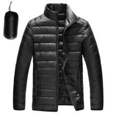 ซื้อ Rhs Online Ultralight Down Jackets Men S Stand Collar Duck Light Thin Autumn Winter Solid Casual Coat Men Outwear(Black) Intl Unbranded Generic ถูก