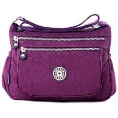 ขาย Richcoco กระเป๋าสะพาย เนื้อผ้าไนลอนกันน้ำ Waterproof Nylon Handbag Shoulder Violet Richcoco