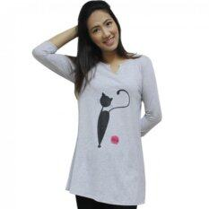 ขาย Rika เสื้อยืดลายแมว รุ่นEn7003R สีเทา ออนไลน์ ใน ไทย