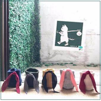 RINLIN ถุงเท้าผู้หญิง วินเทจ แพ็ค 5 คู่ สไตล์ญี่ปุ่น เกาหลี ผูกโบว์ ชีฟอง ครึ่งเเข้ง ใส่เที่ยว Chiffon Crew Ribbon Bow Leisure Fashion Japanese Korean Vintage Lace Sports Socks