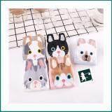 ขาย ซื้อ Rinlin ถุงเท้า แพ็ค 5 คู่ ผู้หญิง ข้อสั้น แฟชั่น ผู้หญิง Women Lady G*rl Ankle Cute Cat Meow Animal Cotton Sports Pastel Socks ลายหน้าน้องแมว ใน Thailand