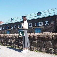 ขาย Rinlin Japanese Korean Style Fashion Work Women Maxi Long Elastic Spandex High Waist Grey Skirts กระโปรงยาว ทรงเอวสูง ใส่ทำงาน สุภาพ ขอบยางยืด สีเทา ถูก ใน Thailand