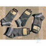 ส่วนลด Rinlin ถุงเท้า ข้อสั้น ธุรกิจ ทำงาน แฟชั่น ผู้ชาย Men Guy Boy Sport Classic Plain Old Sch**l White Stripes Color Grey Socks Set แพ็ค 4 คู่ สีเทาเข้มควันบุหรี่ คาดสีขาว 3 แถบ Thailand
