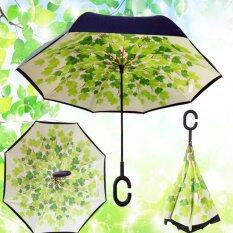 ซื้อ ร่มกลับด้าน 2 ชั้น มือจับตัว C กันแดดUv Reverse Umbrella Green Shade ถูก ใน กรุงเทพมหานคร