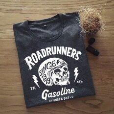 โปรโมชั่น เสื้อยืดผู้ชาย ลาย Roadrunners Drak Grey Dotdotdot