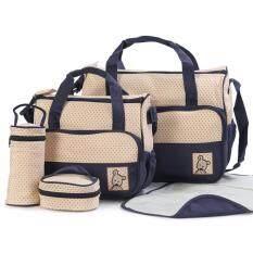 ขาย Rocklife 5Pcs Mummy Essential Diaper Bag กระเป๋าถือ กระเป๋าสะพายไหล่ กระเป๋าสะพายพาดลำตัว Dark Blue ไทย