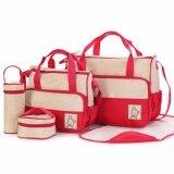 ซื้อ Rocklife 5Pcs Mummy Essential Diaper Bag กระเป๋าถือ กระเป๋าสะพายไหล่ กระเป๋าสะพายพาดลำตัว Red ออนไลน์