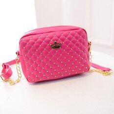 ราคา Rocklife กระเป๋า กระเป๋าสะพาย กระเป๋าสะพายพาดลำตัว Women Shoulder Bag Hot Pink ที่สุด