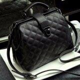 ซื้อ Rocklife Women High Quality Leather Handbag กระเป๋าถือ กระเป๋าสะพายไหล่ กระเป๋าสะพายพาดลำตัว R1139 Black ไทย