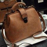 Rocklife Women High Quality Leather Handbag กระเป๋าถือ กระเป๋าสะพายไหล่ กระเป๋าสะพายพาดลำตัว R1139 Brown Nubuck ใหม่ล่าสุด