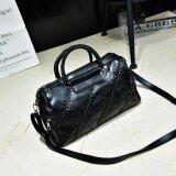 ขาย Rocklife Women High Quality Sheepskin Top Handle Bag กระเป๋าถือ กระเป๋าสะพายไหล่ กระเป๋าสะพายพาดลำตัว R1133 Weave
