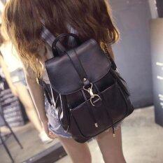 ขาย Rocklife ขายส่ง กระเป๋ารุ่น Women Leather Backpack กระเป๋าสะพายไหล่ กระเป๋าเป้สะพายหลัง Black R1121 ใน ไทย