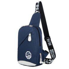 ขาย Rocklife Women Shoulder Bag กระเป๋า กระเป๋าสะพายข้าง กระเป๋าสะพายข้างสำหรับผู้ชาย และ ผู้หญิง R1127 Blue ไทย