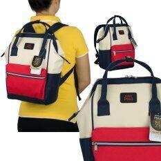 ซื้อ Romar Polo กระเป๋า กระเป๋าสะพายหลัง Backpack 14 นิ้ว รุ่น 69214 Tricolur Red ถูก ใน ไทย
