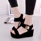 Rome Style Summer Women High Heel Sandals Platform Peep Toe Lady Wedges Sandals Shoes Black Intl Unbranded Generic ถูก ใน จีน