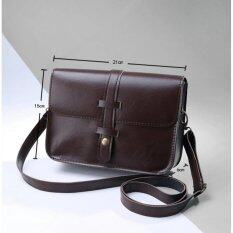 ราคา Rorychen Fashion Women Pu Leather Messenger Bag Shoulder Bag Crossbody Bag Brown) Intl Rorychen
