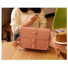 ราคา Rorychen Fashion Women Pu Leather Messenger Bag Shoulder Bag Crossbody Bag (Pink) Intl