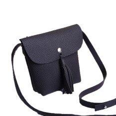 ขาย Rorychen Sweet Lady Tassel Bag Mobile Phone Bag Shoulder Diagonal Package Lychee Pattern Cute Coin Purse(Black) Intl ผู้ค้าส่ง