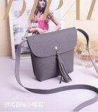 ซื้อ Rorychen Sweet Lady Tassel Bag Mobile Phone Bag Shoulder Diagonal Package Lychee Pattern Cute Coin Purse(Grey) Intl ถูก