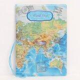 ขาย Rorychen World Map Three Dimensional Passport Folder Fashion Passport Sets Of Identity Documents Sets Of Passport Package(Blue) Intl ถูก
