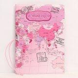 ทบทวน Rorychen World Map Three Dimensional Passport Folder Fashion Passport Sets Of Identity Documents Sets Of Passport Package(Pink) Intl