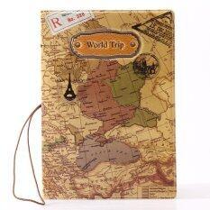 ขาย Rorychen World Map Three Dimensional Passport Folder Fashion Passport Sets Of Identity Documents Sets Of Passport Package(Yellow) Intl ออนไลน์