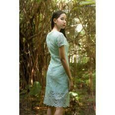 ขาย Rosamoda Ribbon Lace Dress Mint Rosamoda ถูก