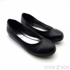 ขาย Rovy รองเท้าคัชชูผู้หญิง ส้นแบน รองเท้าทางการ W1102 สีดำ กรุงเทพมหานคร