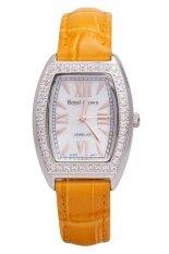 ราคา Royal Crown นาฬิกาข้อมือผู้หญิง สีเหลืองทอง สายหนัง รุ่น 3635L เป็นต้นฉบับ