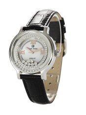 ขาย Royal Crown นาฬิกาผู้หญิง สายหนัง รุ่น 3638L สีดำ ออนไลน์