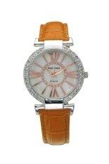 ราคา Royal Crown นาฬิกาข้อมือผู้หญิงประดับเพชร รุ่น 6116 สายหนัง สีเหลืองทอง Royal Crown เป็นต้นฉบับ