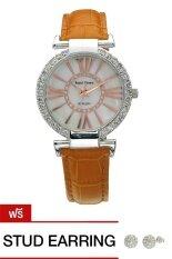 ขาย Royal Crown นาฬิกาข้อมือผู้หญิงประดับเพชร สีเหลืองทอง สายหนัง รุ่น 6116 ผู้ค้าส่ง