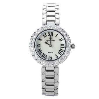 Royal Crown นาฬิกาข้อมือผู้หญิง สายสแตนเลส ประดับเพชร รุ่น 6305-SSL  - Silver