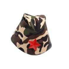 ส่วนลด สินค้า Russian Army Cap Tricorne Green Camo Badge Women Sailor Military Stage Performance Dance Hats Chinese Boat Cap Intl