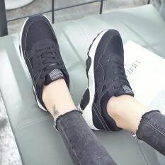 ราคา Sabai รองเท้าผ้าใบแฟชั้นผู้หญิงสไตล์เกาหลี 1727 สีดำ Unbranded Generic